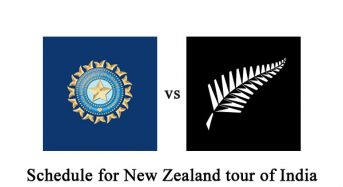Schedule for New Zealand tour of India announced