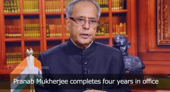 Pranab Mukherjee completes four years in office