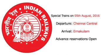 Superfast Special Fare Special Trains Between Chennai Central to Ernakulam