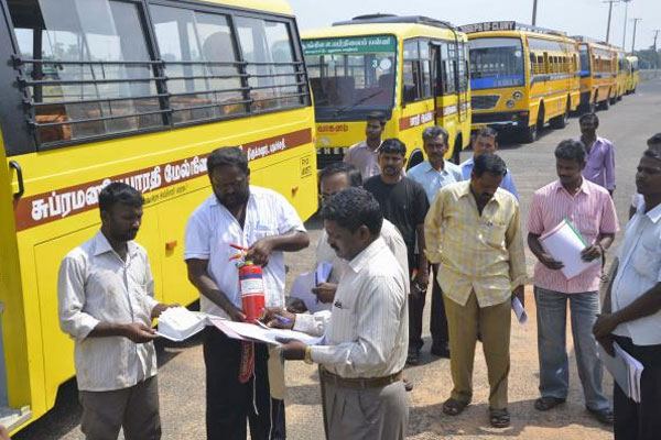 Officials check fitness of school buses, vans