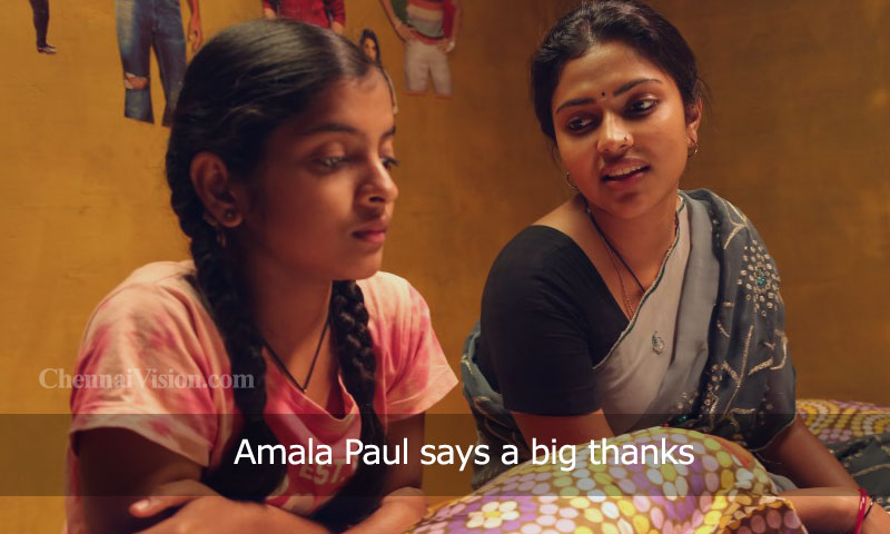 Amala Paul says a big thanks