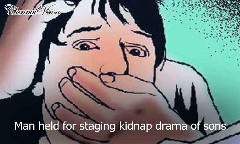Man held for staging kidnap drama of sons
