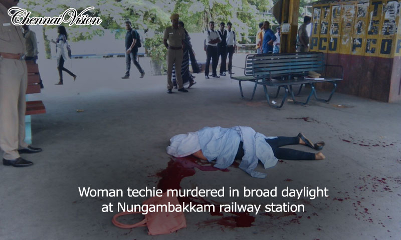 Woman techie murdered in broad daylight at Nungambakkam railway station
