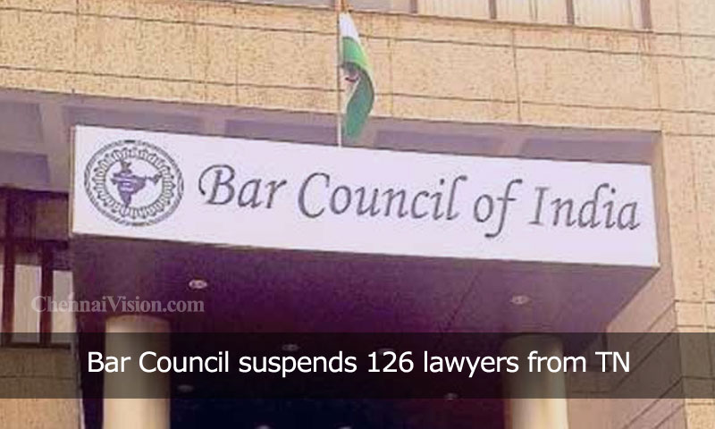 Bar Council suspends 126 lawyers from TN