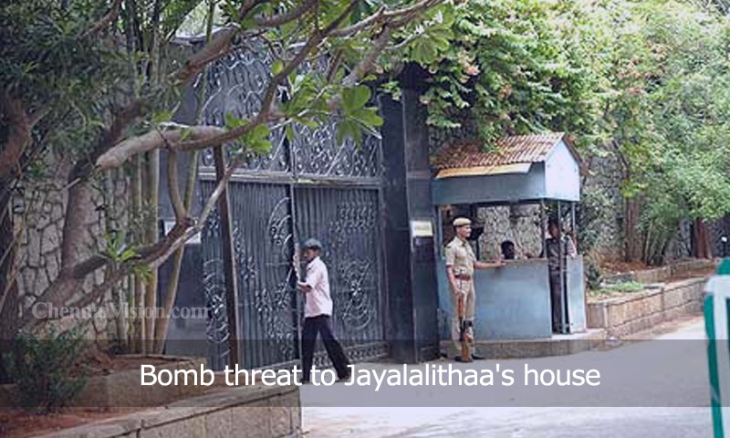 Bomb threat to Jayalalithaa's house