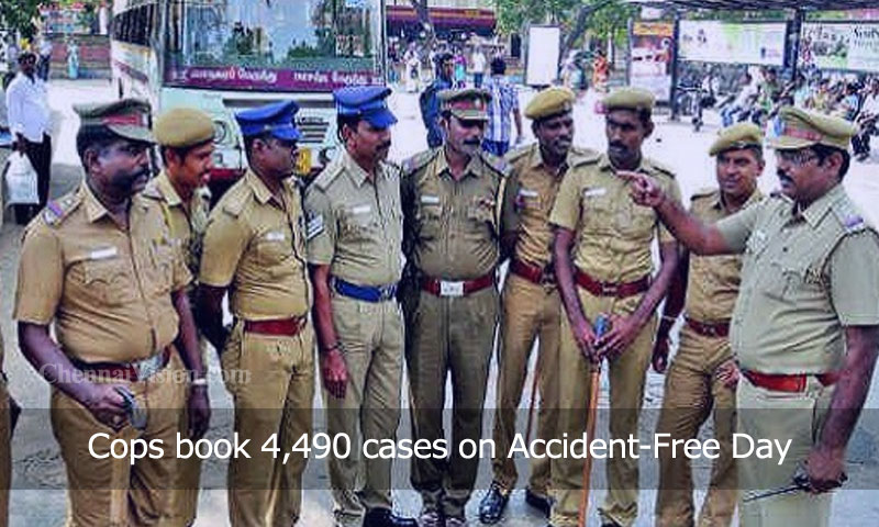 Cops book 4,490 cases on Accident-Free Day