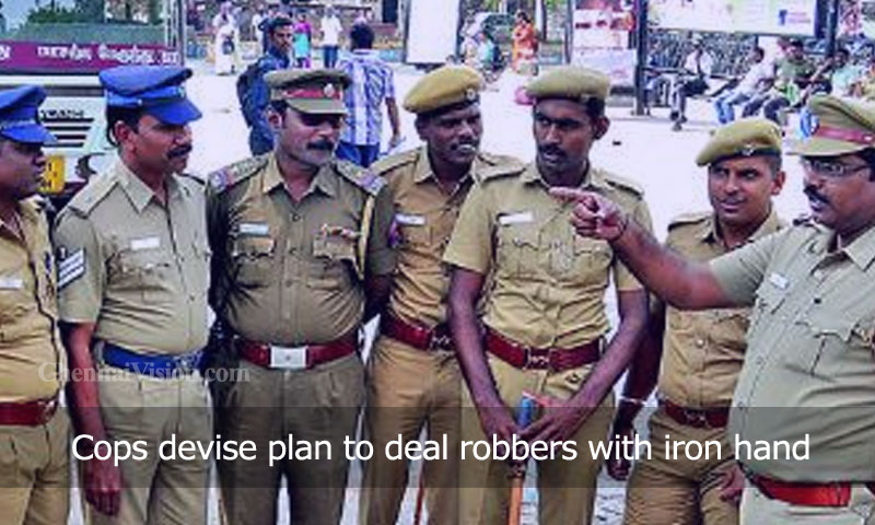 Cops devise plan to deal robbers with iron hand