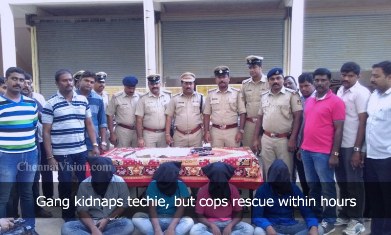 Gang kidnaps techie, but cops rescue within hours