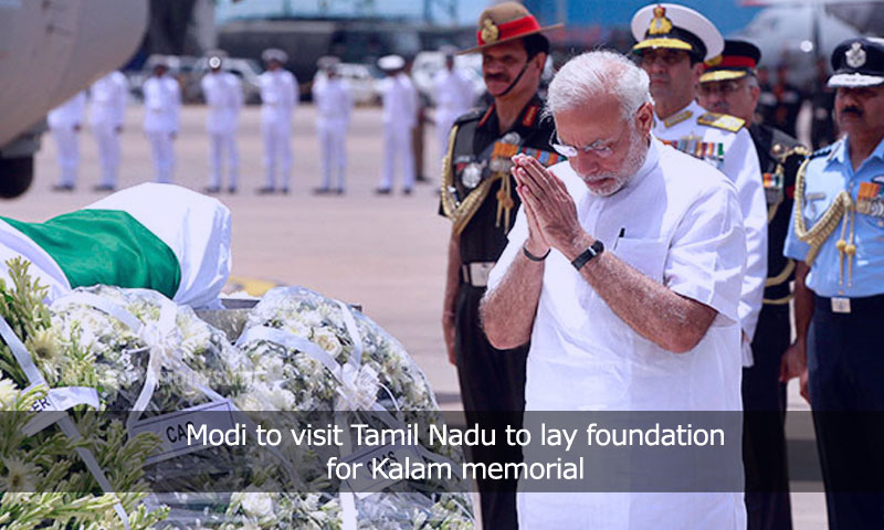 Modi to visit Tamil Nadu to lay foundation for Kalam memorial