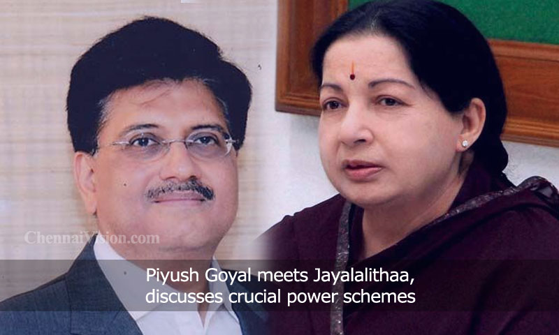 Piyush Goyal meets Jayalalithaa, discusses crucial power schemes