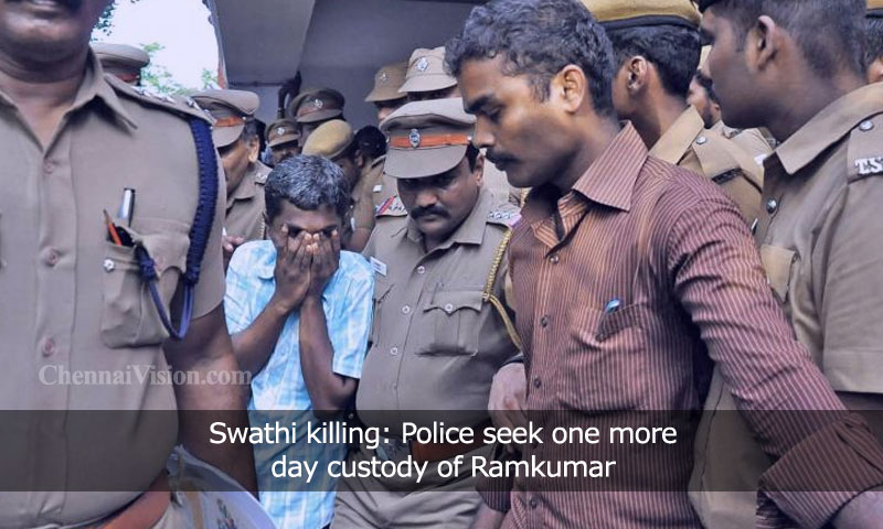Swathi killing: Police seek one more day custody of Ramkumar