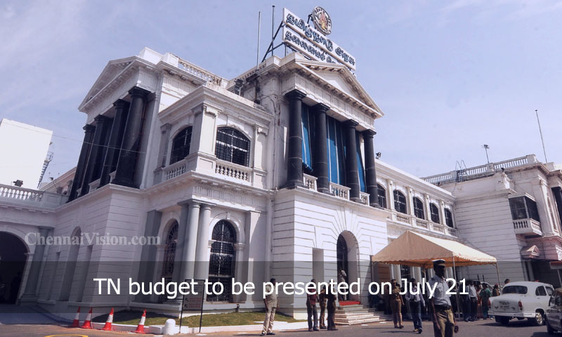 TN budget to be presented on July 21