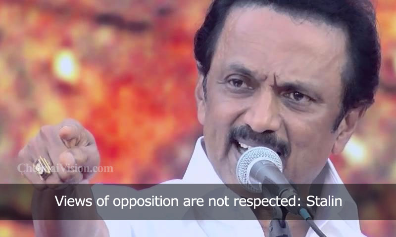 Views of opposition are not respected: Stalin