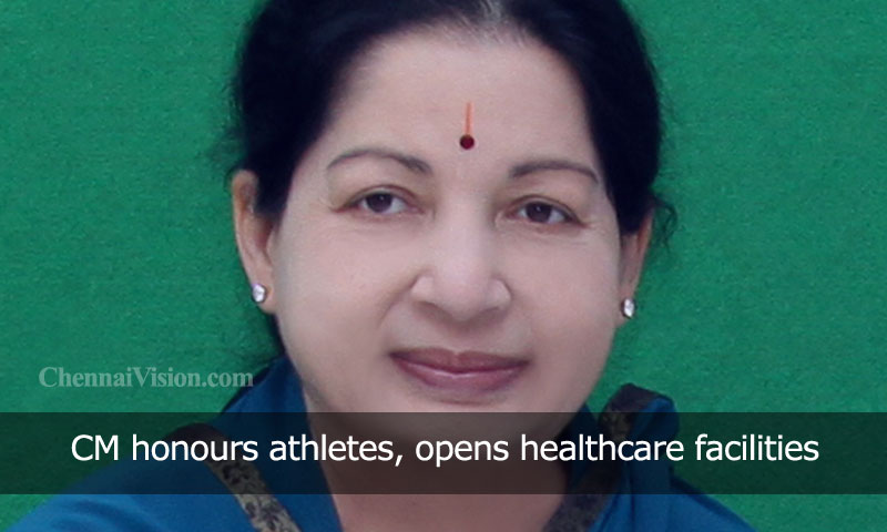 CM honours athletes, opens healthcare facilities