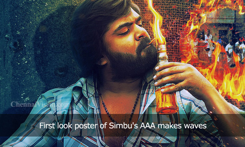 First look poster of Simbu's AAA makes waves