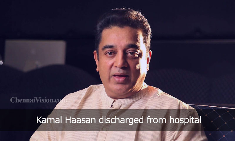 Kamal Haasan discharged from hospital