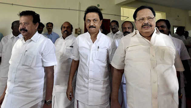 On day one after end of suspension, DMK MLAs walk out