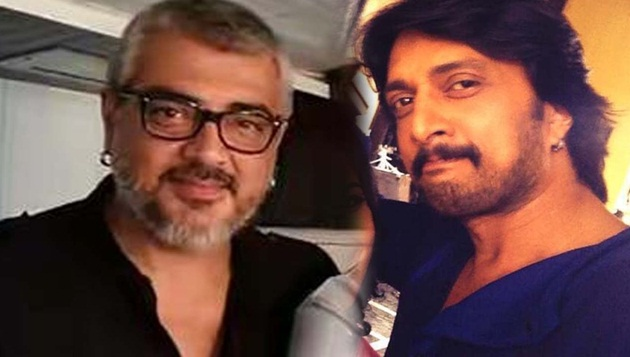 Sudeep heaps rich laurels on Ajith
