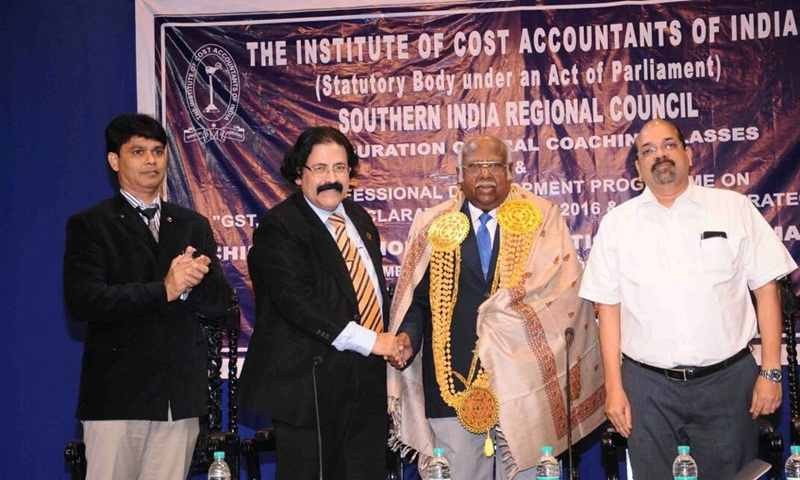 "The Regional Council of the Institute of Cost Accountants of India organized Professional Development Programme on ""GST, Income declaration scheme – 2016"""