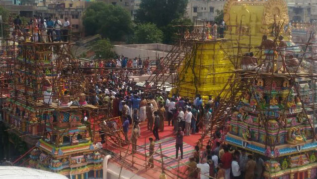 Thousands throng consecration of Narasimhar shrine at Parthasarathy temple