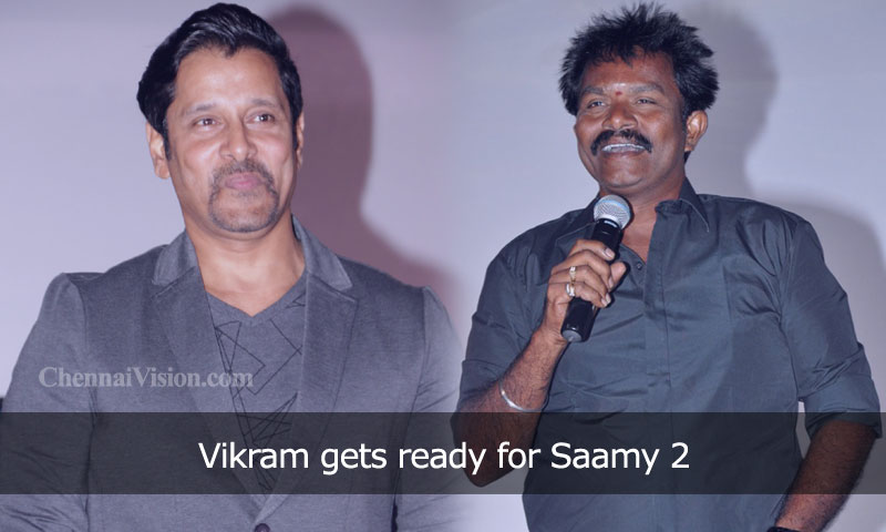 Vikram gets ready for Saamy 2