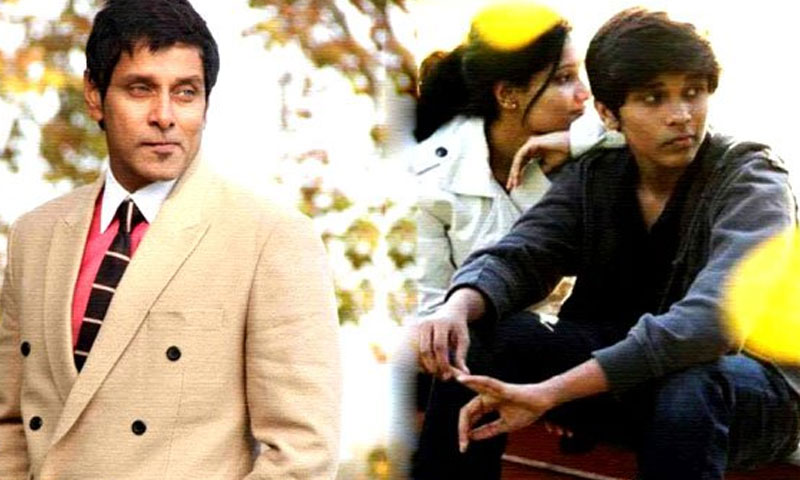 Vikram learns acting from his son