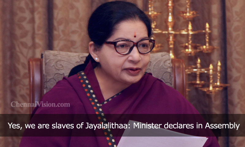 Yes, we are slaves of Jayalalithaa: Minister declares in Assembly