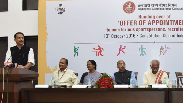 Bandaru Dattatreya Presents 'Offer of Appointment' to 135 Sportspersons Recruited by ESIC