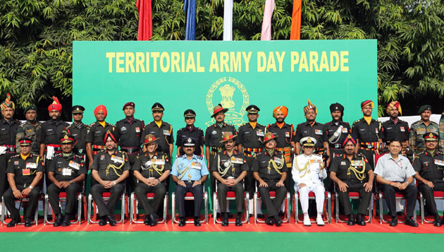 Celebrating 67th Raising Day by Territorial Army