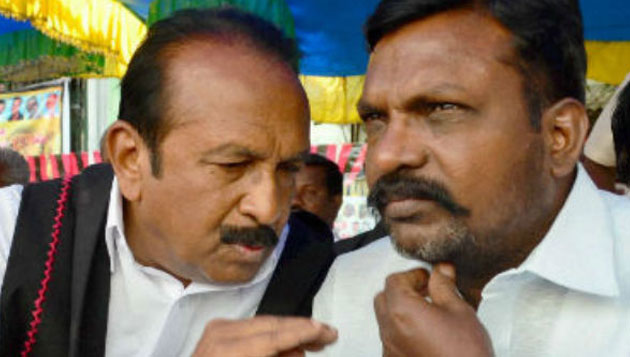 Cracks emerge in PWF, as Thiruma opposes Vaiko's decision to not attend DMK meet