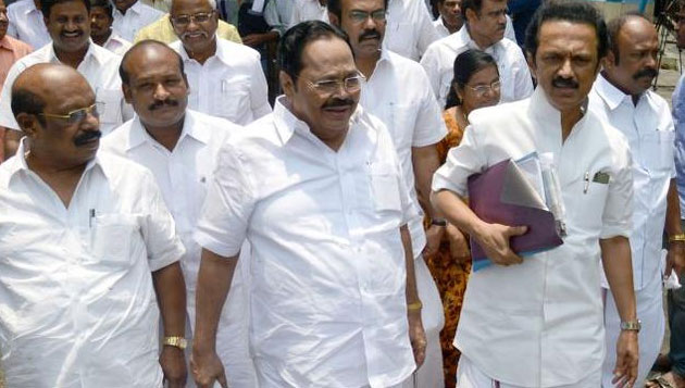 DMK members attempts self-immolation over denial of ticket
