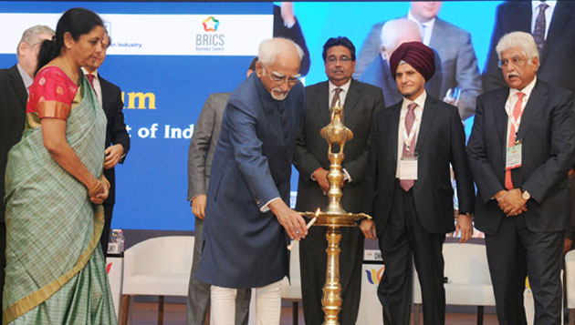 Hamid Ansari Inaugurates First BRICS Trade Fair