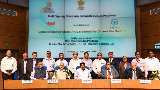 PetroFed signs MoU with TERI to undertake a study on Climate Change Risks