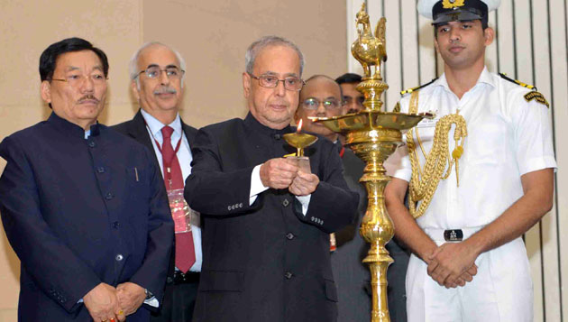 Pranab Mukherjee inaugurated the first edition of the World Sustainable