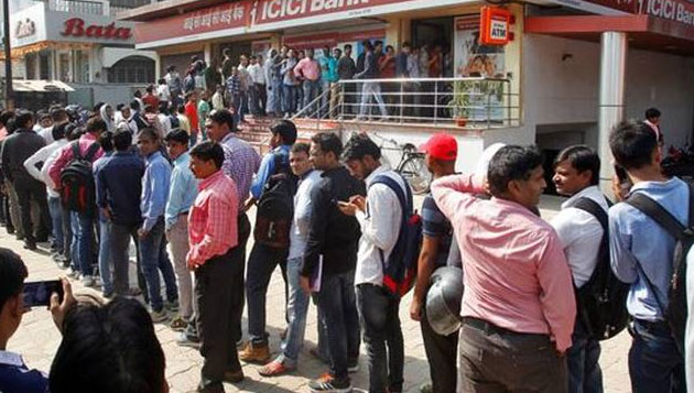 Demonetisation, At last, crowds ease at banks and ATMs