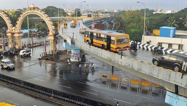 3 flyovers opened in city for traffic