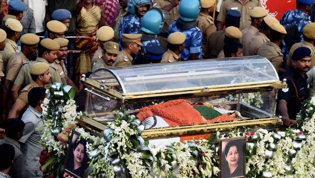 Jaya laid to rest amid tears of people