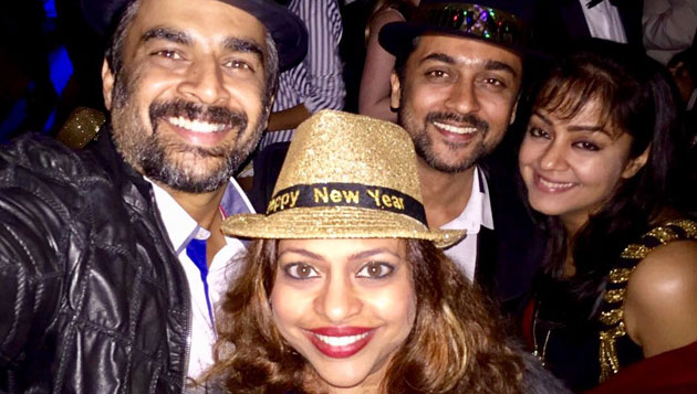 Suriya, Madhavan celebrate new year together