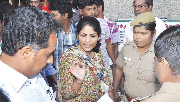 Woman complains of cops harassment to minister at press meet