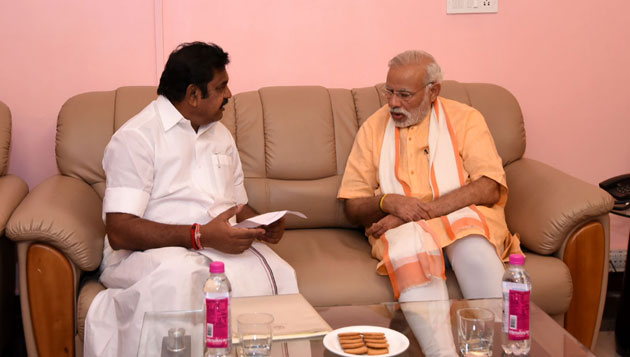 Edappadi presents 106-page memorandum to Modi