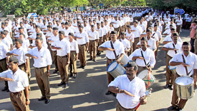 RSS route march in Chennai sees mass participation of members