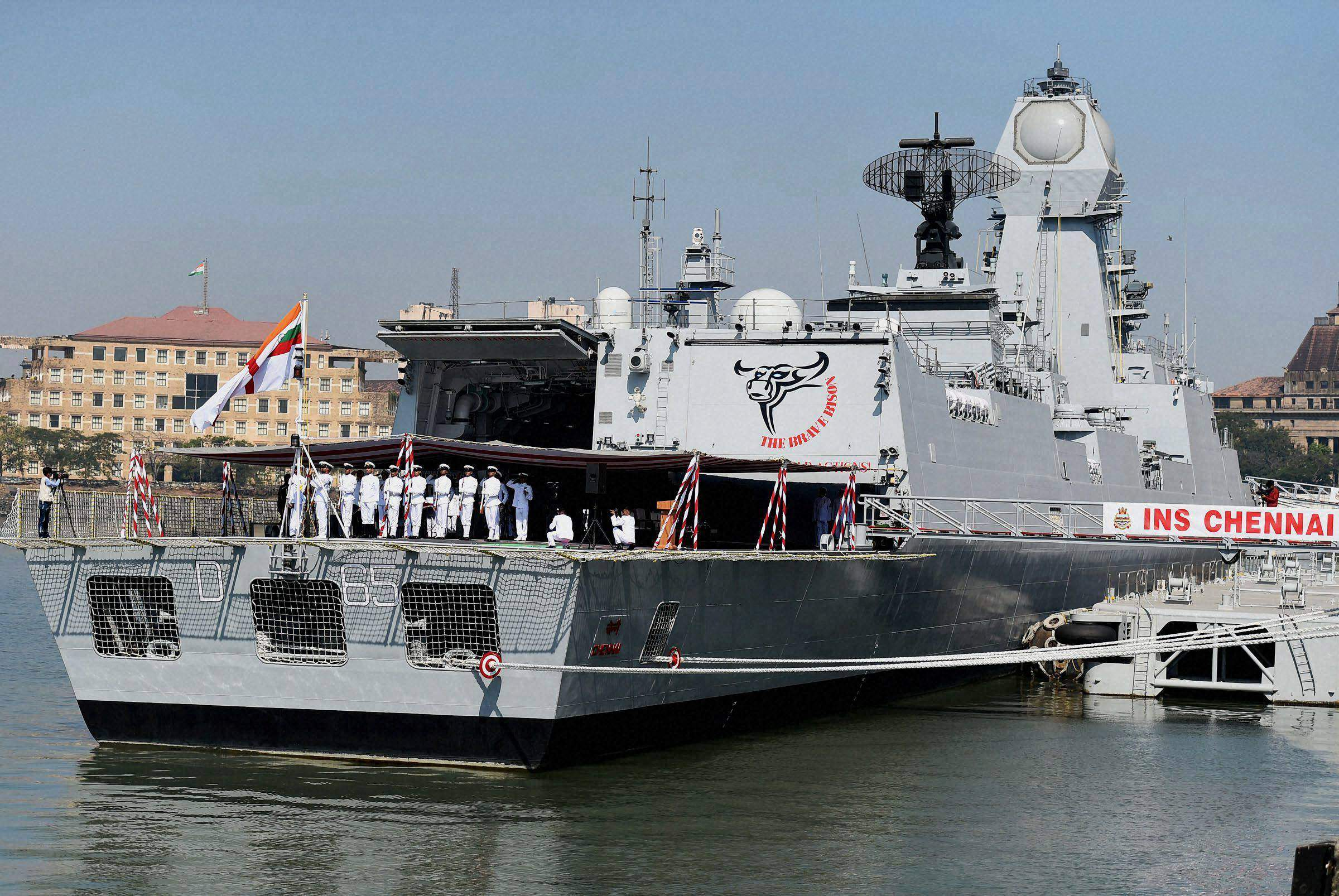 Thousands of students visit INS Chennai