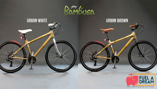 Godrej Presents its exclusive hand-made Bamboo frame bikes through Crowdfunding