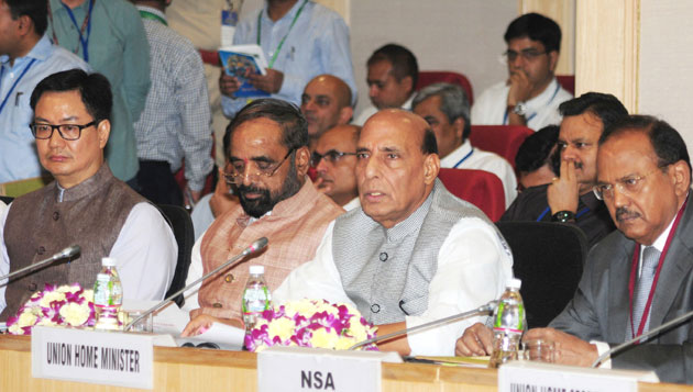 Rajnath Singh addresses the Review Meeting of Left Wing Extremism affected States on Development Issues