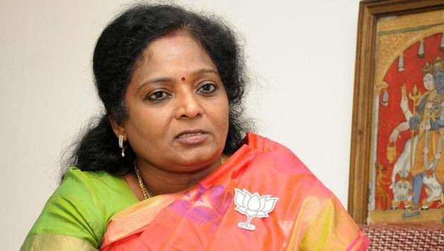 Tamilisai asks visitors to give money instead of shawls, garlands