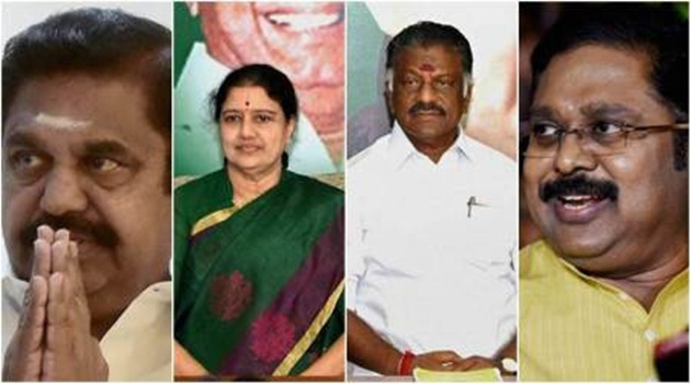EPS, OPS storm Delhi with a mission to end Sasikala, Dinakaran dominance