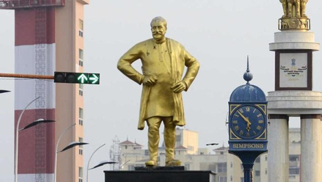 Removed from Marina, Sivaji statue finds a new place