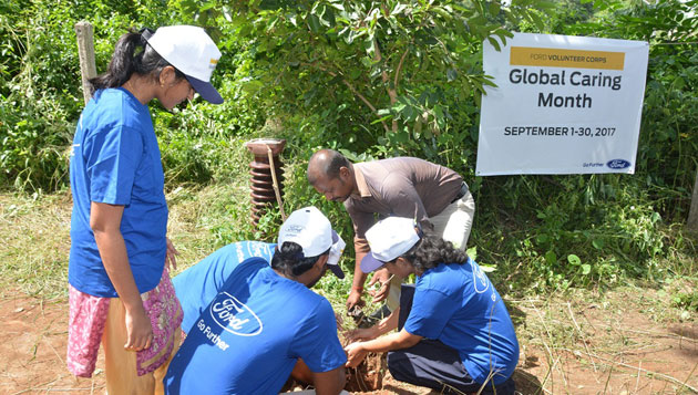 Ford India Press Note :: Global Caring Month – Tree Planting Activity in Chennai