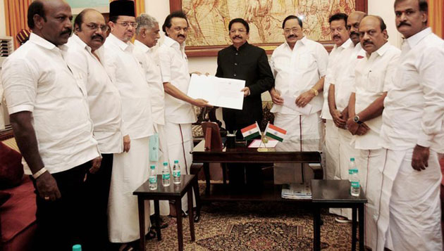 Stalin meets Governor, wants him to order floor test within a week