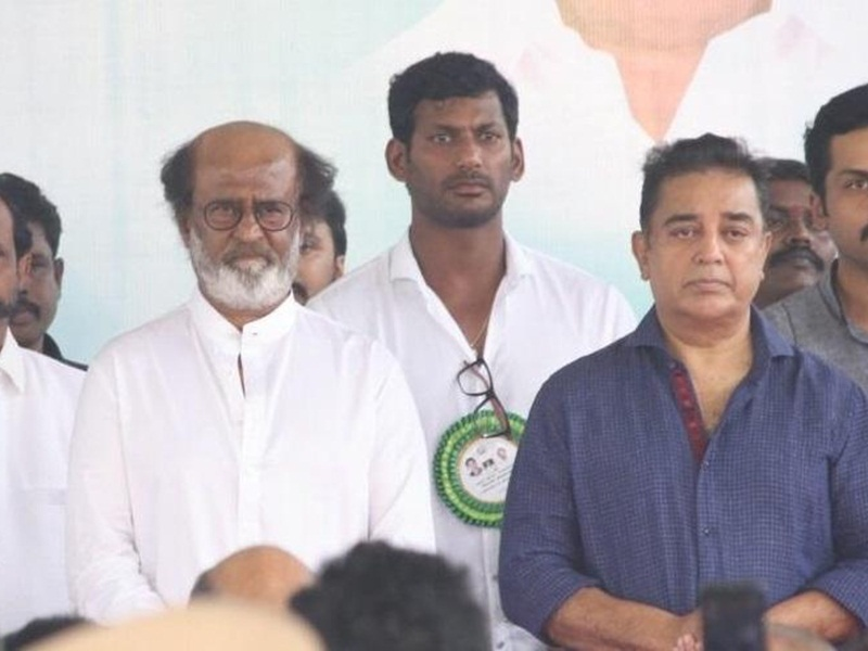 Rajini mocks OPS, Kamal at Sivaji memorial function